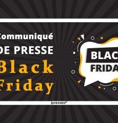 Communiqué de presse Black friday